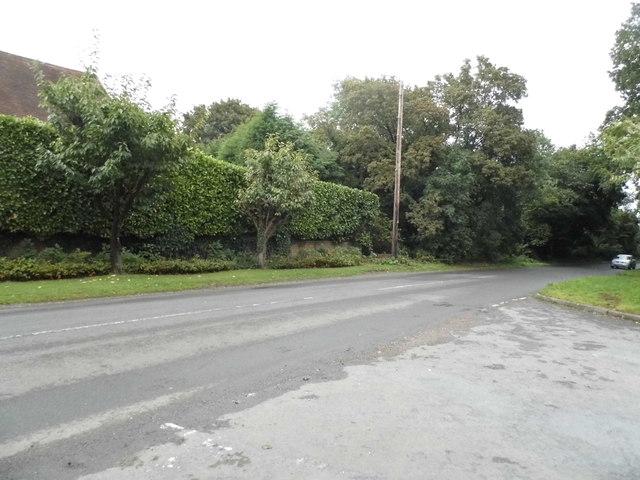 Denham Lane at the junction of The Warren