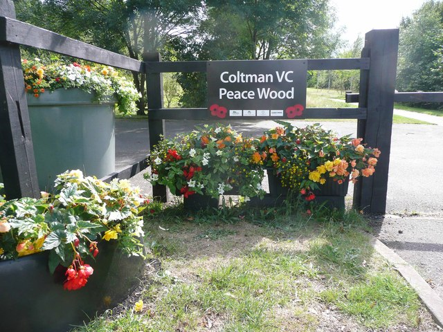 William Coltman VC Peace Wood