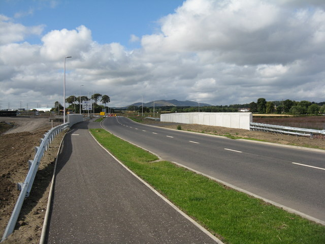 New bridge and road alignment for the Borders Railway