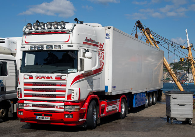 Scania lorry - South Pier, Oban