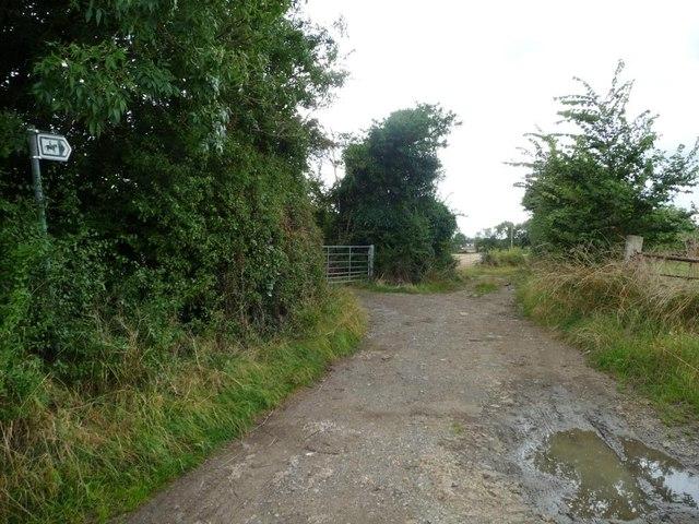 Public bridleway to Wickhamford