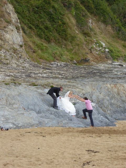 Rescuing the bride at Bream Cove