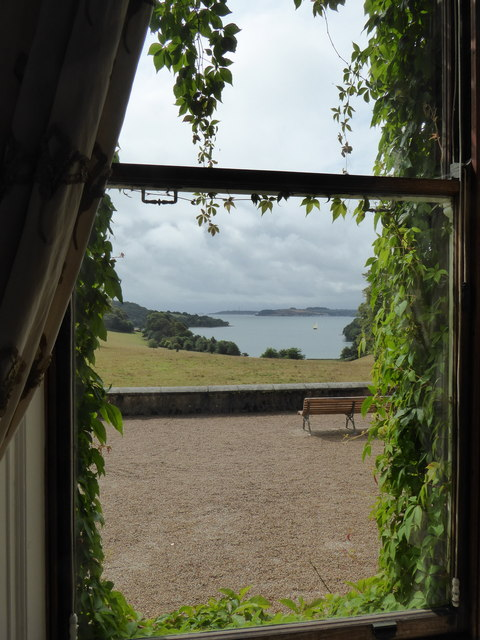 The view from the Dining Room at Trelissick House