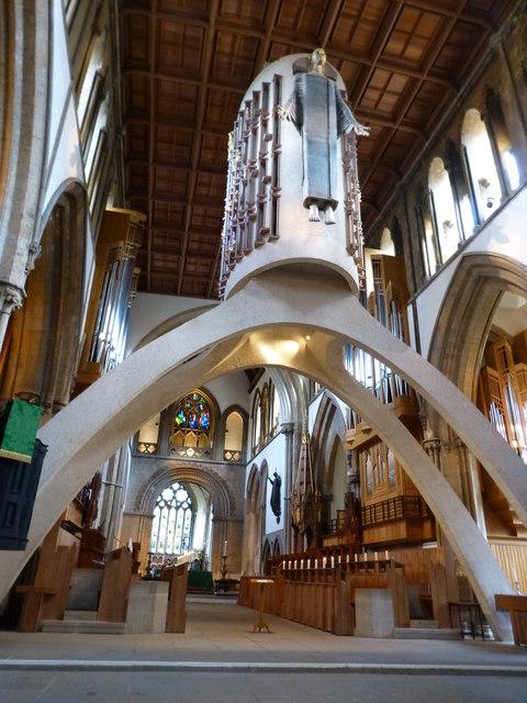Interior, Llandaff Cathedral, Cardiff