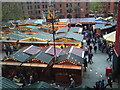 SJ8398 : Christmas market in Albert Square, Manchester by Jonathan Hutchins