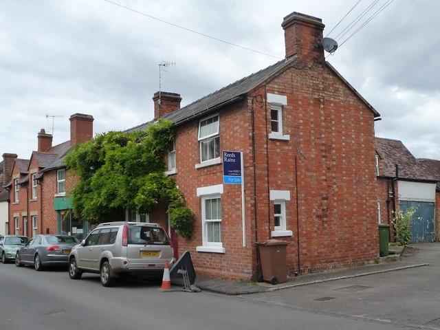Chequered brick houses at Bretforton