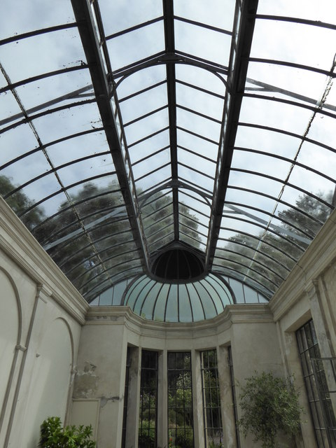The roof of the conservatory at Trelissick House