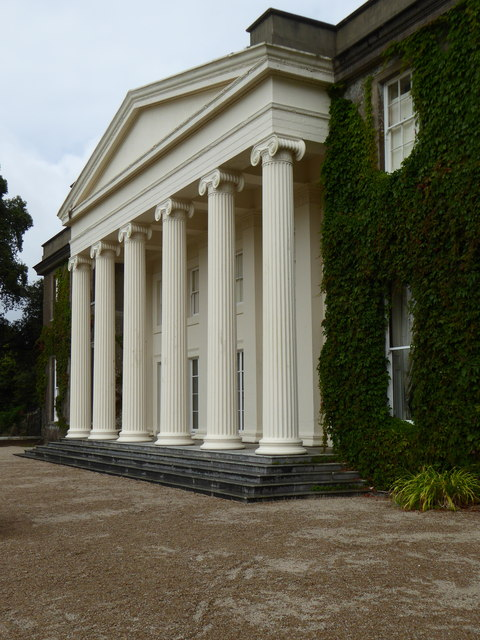 The imposing southern elevation of Trelissick House