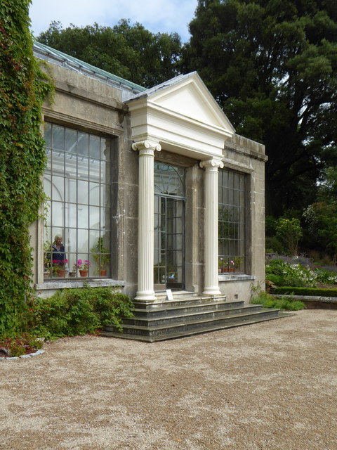 The entrance to the conservatory at Trelissick House