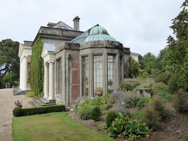 The eastern elevation of Trelissick House