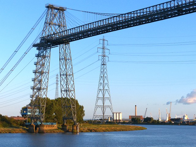 The eastern end of Newport Transporter Bridge