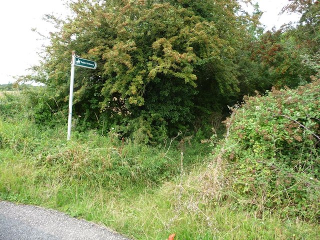 Bridleway signpost, north side, Blake's Hill