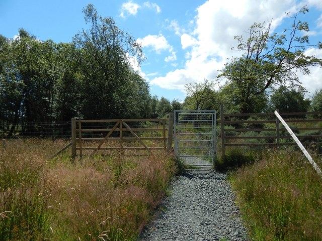 Gate on circular path