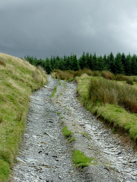 Byway south-east of Strata Florida, Ceredigion