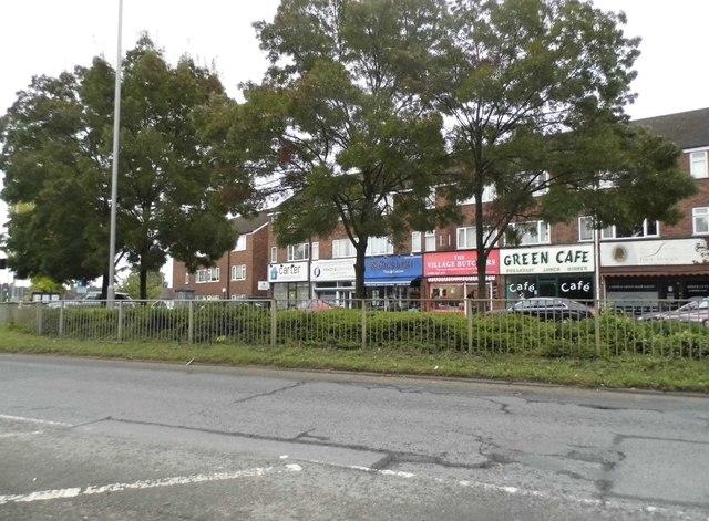 Shops on the A412, Denham