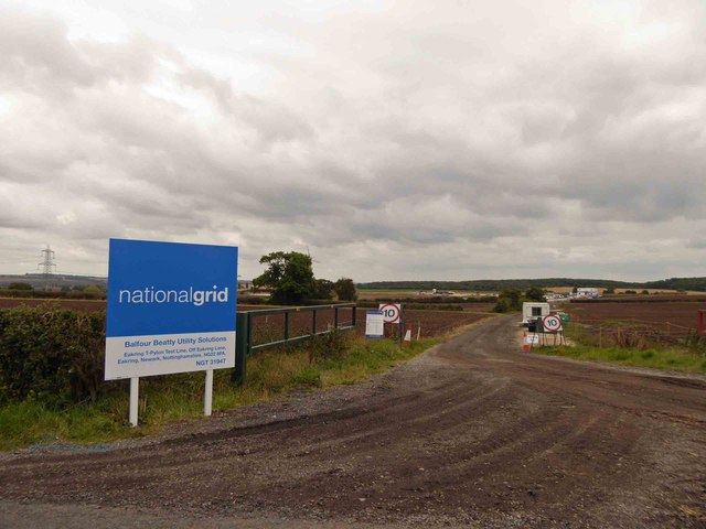 National grid site for new T design electricity pylons
