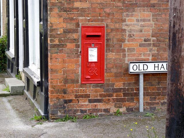 High Street, East Markham postbox ref NG22 36