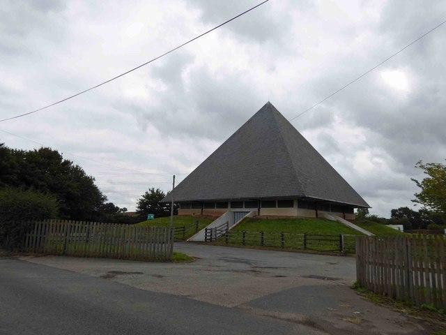 Ompton pyramid shaped pumping station