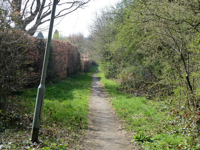 Footpath along edge of Banstead Downs