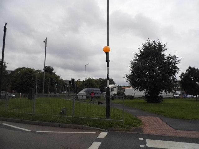 Moorfield Road looking towards the A412, Denham