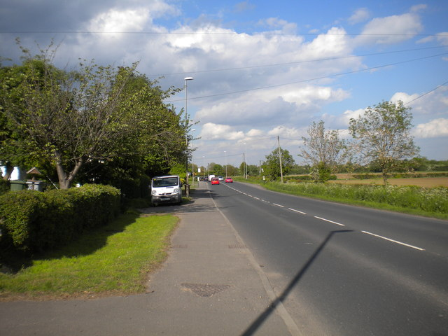 The south western approach to Lowdham