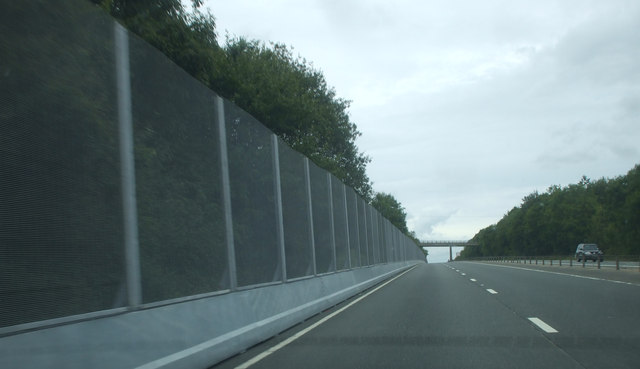 NATO conference security fencing along the A449