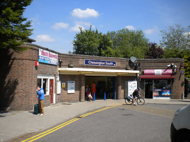 Entrance to Chessington South station