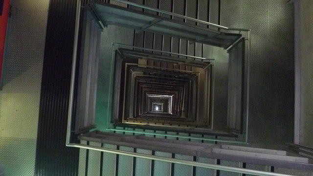 View down the stairwell in the Baltic Centre