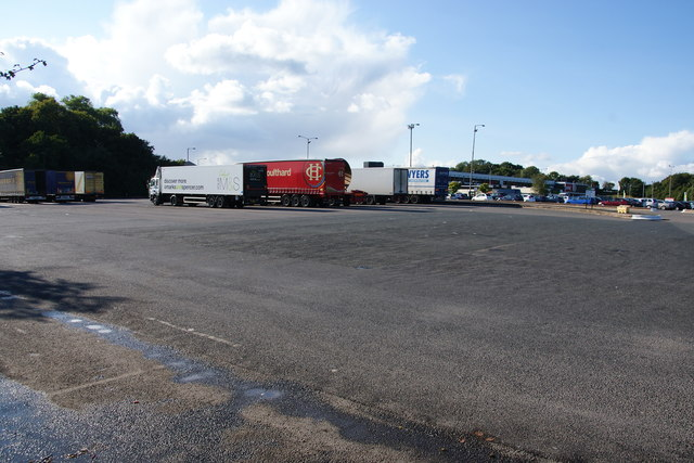Lorry park at Keele Services Northbound