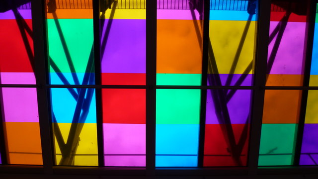 Part of the skylights in the Baltic Centre for Contemporary Art
