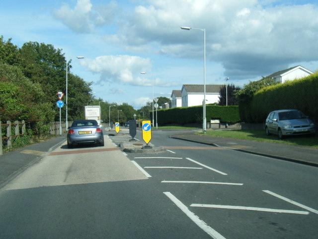 B4295 Gowerton Roadat Waun Y Felin junction