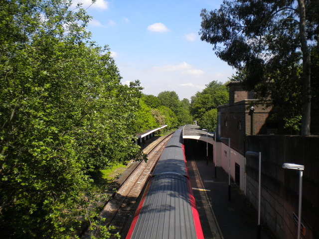 Chessington South station from above