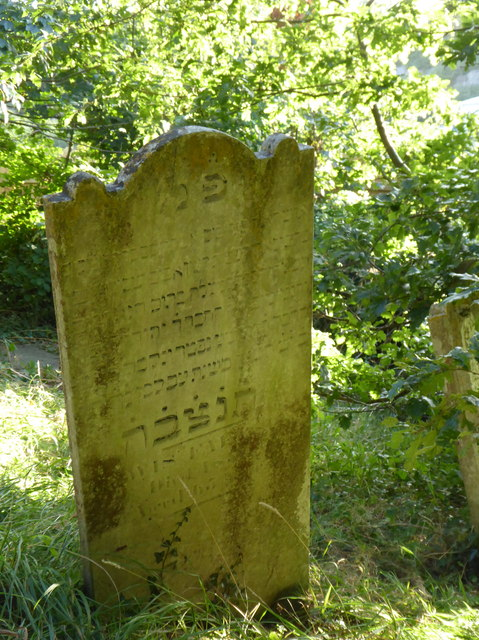 Gravestone in the Jewish Cemetery