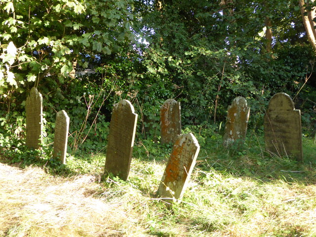 Gravestones in the Jewish Cemetery in Falmouth