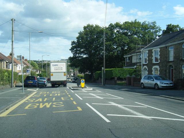 Corwydd Road looking east
