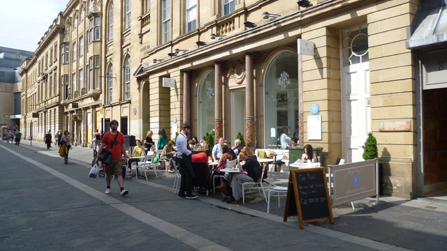 The Cafe Royal on Nelson Street in Newcastle upon Tyne