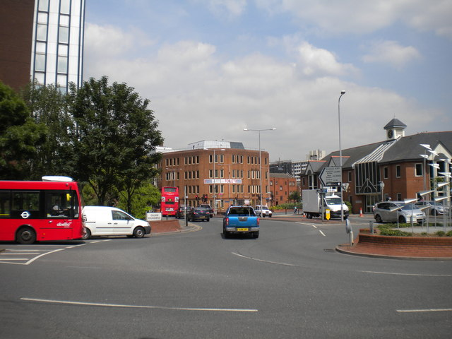 South end of Wheatfield Way, Kingston upon Thames