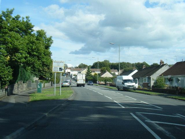 Gorwydd Road at Waunarlwydd boundary