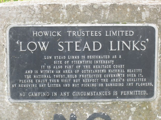 Information sign at Low Stead Links
