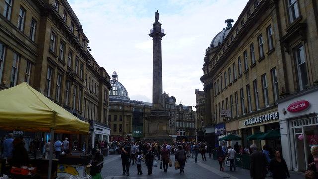 Scene on Grainger Street, Newcastle upon Tyne