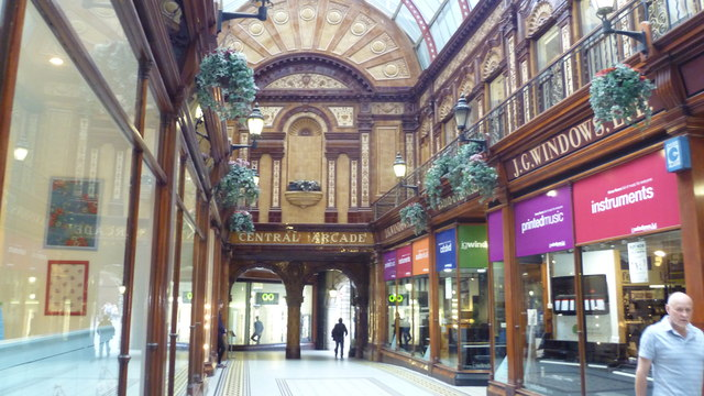 Part of the Central Arcade in Newcastle upon Tyne