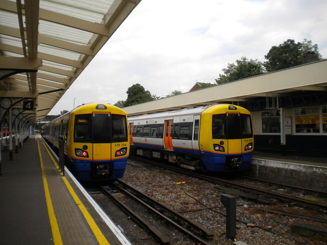 London Overground trains at Richmond
