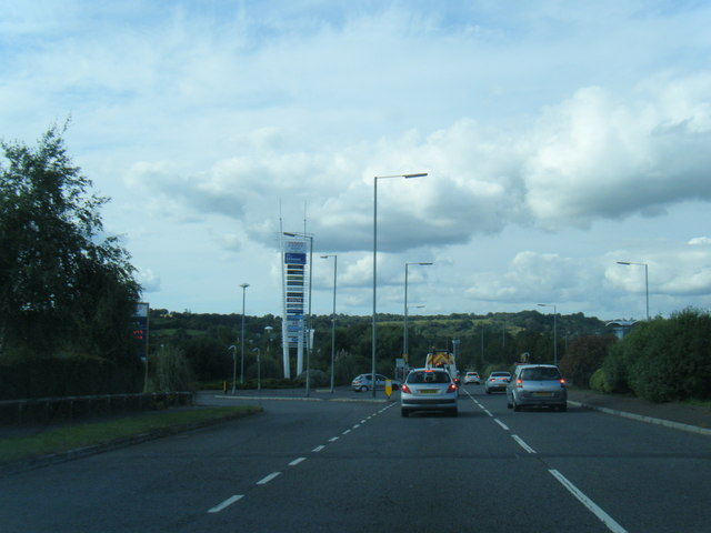 A483 westbound by retail park