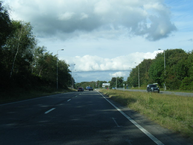 A483 northbound near Parc Penllergaer