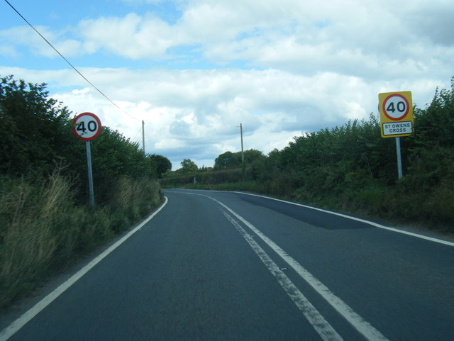 A4137 at St Owens Cross boundary