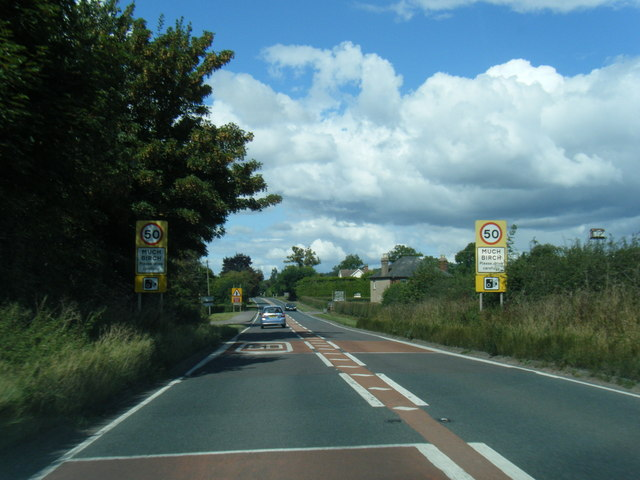 A49 at Much Birch boundary