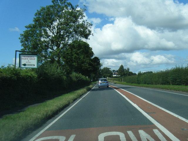 A49 near Treberva Farm