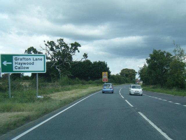 A49 northbound near Portway