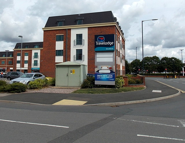 Electricity substation at the edge of Travelodge, Stratford-upon-Avon