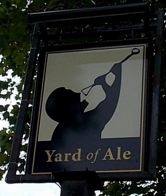 Yard of Ale name sign, Stratford-upon-Avon
